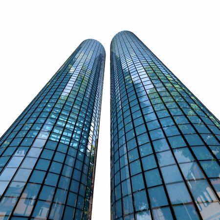 undertake: Skyscrapers - 3d rendered illustration
