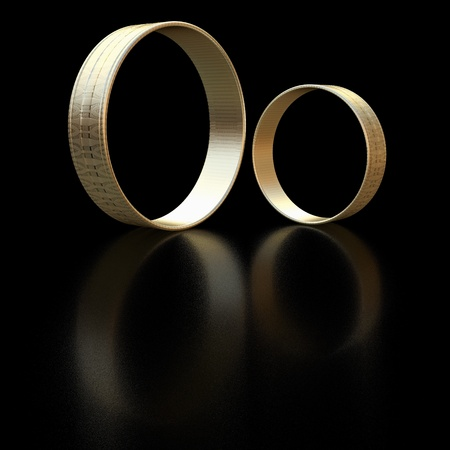 Rings - 3d rendered illustration Stock Photo