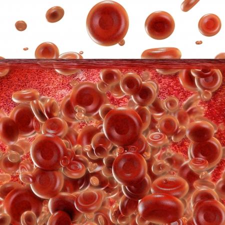 blutzellen: Blutzellen - 3d gerenderten Bild Lizenzfreie Bilder