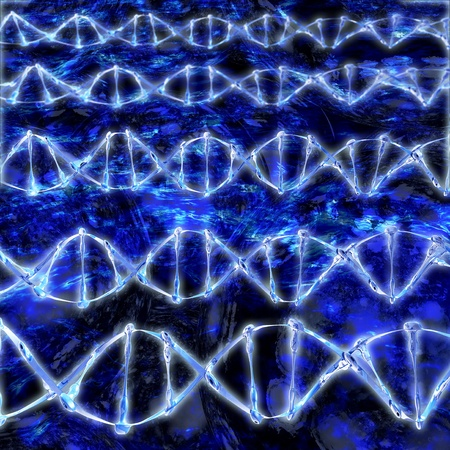 DNA Strands - 3d rendered illustration Stock Illustration - 21885816