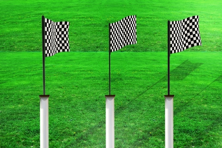 Race flags - 3d rendered illustration illustration