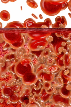 Blood cells - 3d rendered illustration  illustration