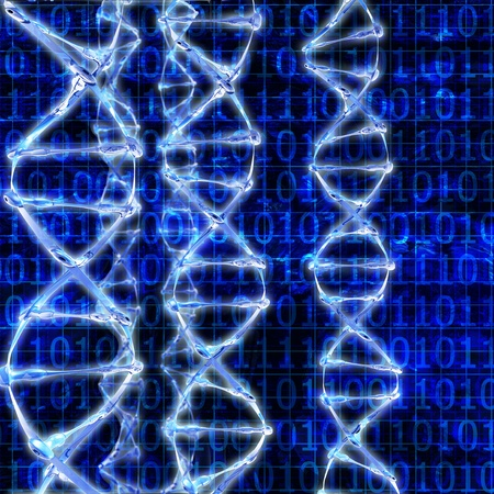 DNA Strands - 3d rendered illustration Stock Illustration - 21885823