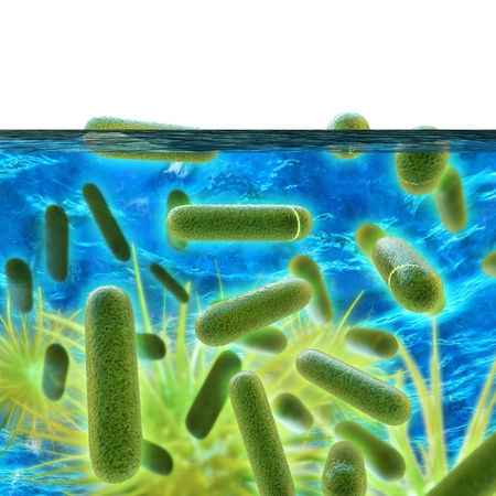 Legionella - 3d rendered illustration
