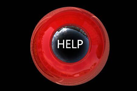 help button: Help Button - 3d rendered illustration