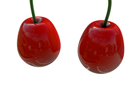 Cherry - 3d rendered illustration Stock Photo