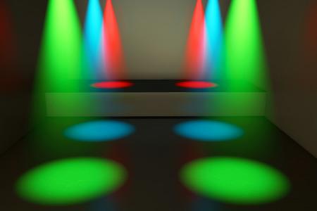 12v: Spotlights and stage - 3d rendered illustration