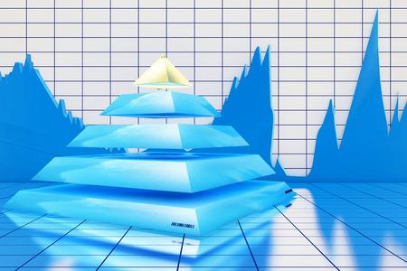 Pyramide statistics - 3d rendered illustration illustration