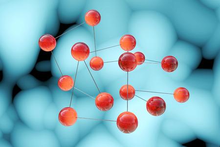 分子 3 d レンダリングされた図 写真素材