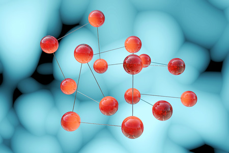 ions: Molecules - 3d rendered illustration