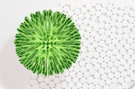 h1n1 vaccinations: Swine flu - 3d rendered illustration