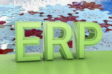 knowledgeable: Enterprise Resource Planning - 3d rendered illustration Stock Photo