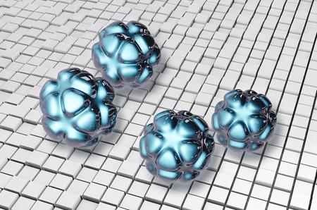 ナノ粒子 3 d レンダリングされた図 写真素材