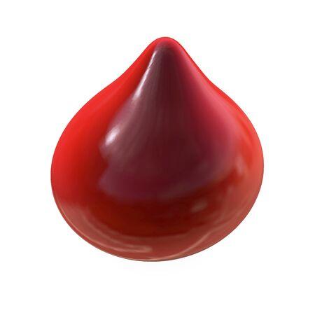 healthy arteries: Drop of blood  3d rendered illustration