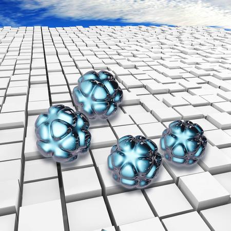 Nanoparticles - 3d rendered illustration 版權商用圖片 - 37530902