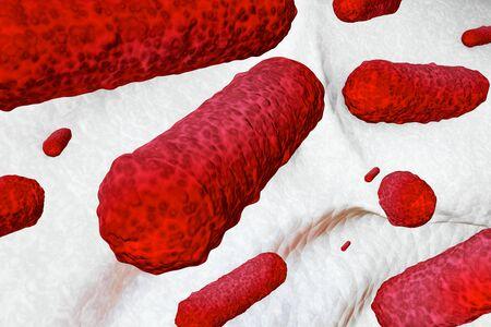 food hygiene: Germs - 3d rendered illustration Stock Photo