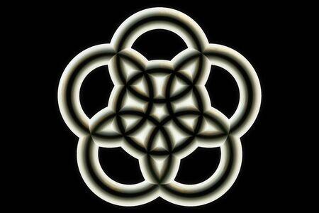 aureole: Illuminated object - 3d rendered illustration Stock Photo