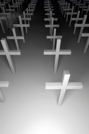 rendered: Crosses - 3d rendered illustration Stock Photo