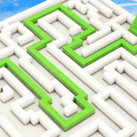 Labyrinth - 3d rendered illustration Stock Photo