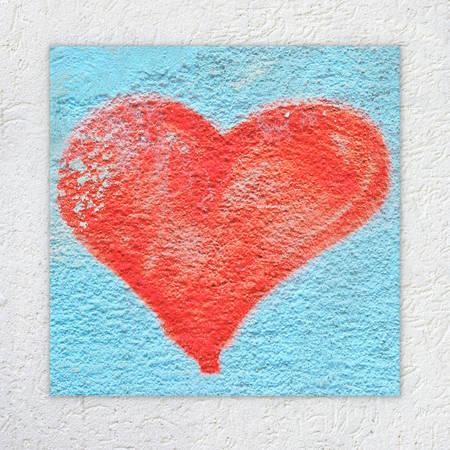 cheated: Heart on wall