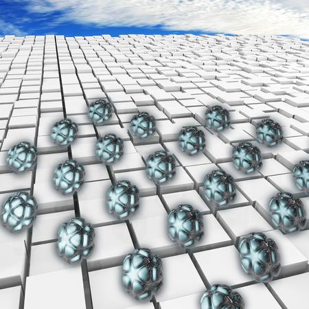 Nanoparticles - 3d rendered illustration