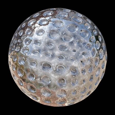 Reflective Sphere with holes - 3d rendered illustration