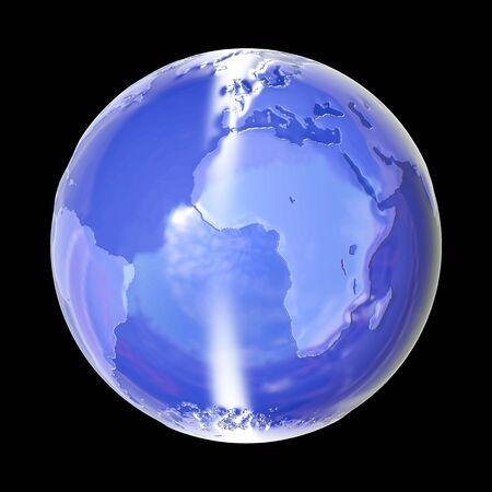 Global World - 3d rendered illustration