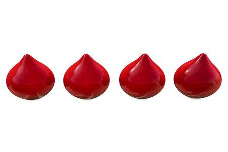 Blood drops - 3d rendered illustration