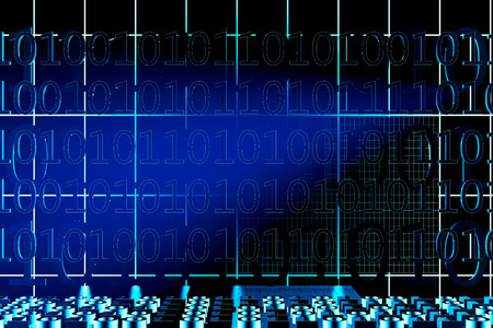 Binary code background - 3d rendered illustration Stock Photo
