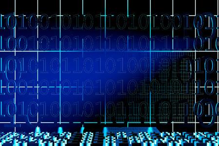 Binary code background - 3d rendered illustration Banco de Imagens