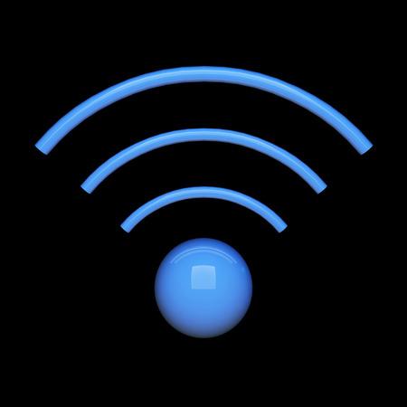 Wifi sign - 3d rendered illustration