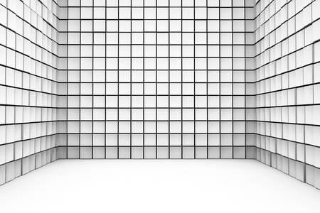 White Cube room - 3d rendered illustration