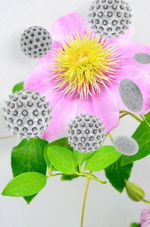 花粉 - 3 d レンダリングされた図
