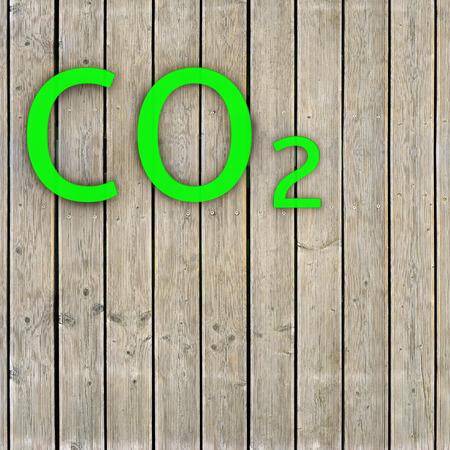 Co2 - 3 d レンダリングされた図 写真素材