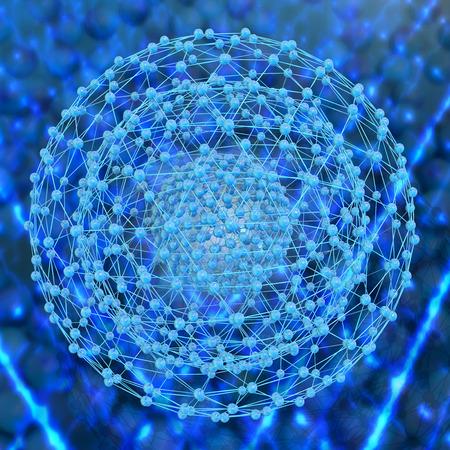 ナノ構造 3 d レンダリングされた図
