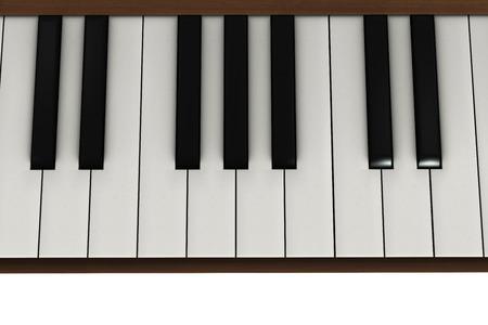 ピアノのキー-3 d rendedred 図