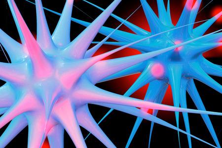 神経細胞-3 d イラスト 写真素材