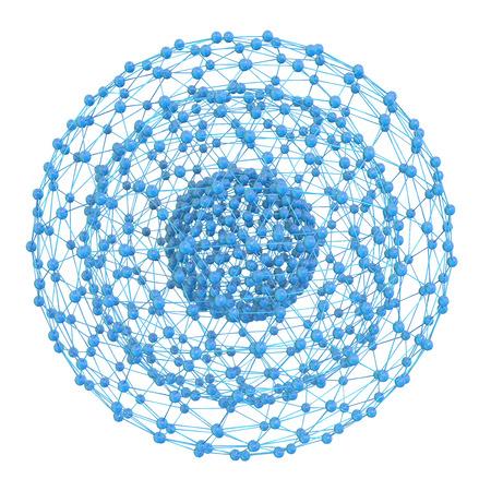 nano technology: Nanostructure - 3d rendered illustration