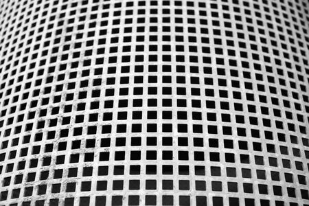 Silver Metal mesh with holes - stainless grill 写真素材