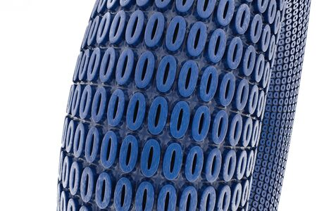 Number Zero blue repeated pattern - 3d Illustration