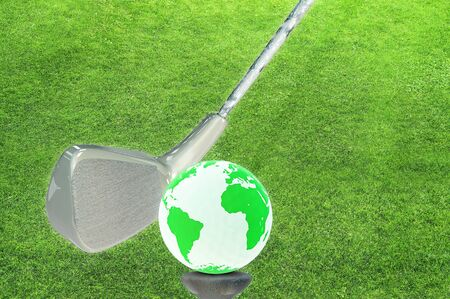 World as a  game ball - 3d rendered illustration