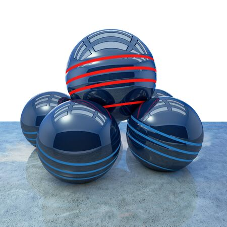 Goal abstract concept with spheres - 3d Rendered Illustration 写真素材