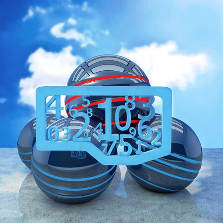 Blue letters creativ concept - 3d rendered illustration