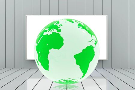 Environmental protection concept in classroom - 3d rendered illustration Stock Photo