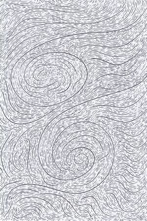Swirly Curves Texture  close circles - 3d illustration