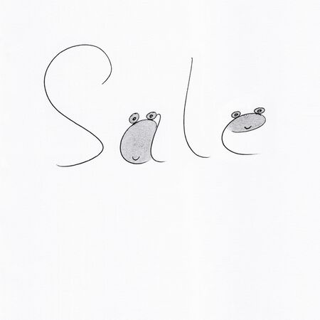 Sale concept illustration with Stick figures - Drawing 写真素材