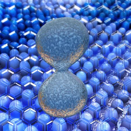 Cell division close up 3D illustration