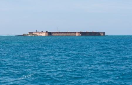 fort jefferson: Garden Key in the Dry Tortugas is the site of the historic Fort Jefferson  Fort Jefferson is a massive but unfinished coastal fortress  It is the largest masonry structure in the Americas and is composed of over 16 million bricks  It nearly encompasses th