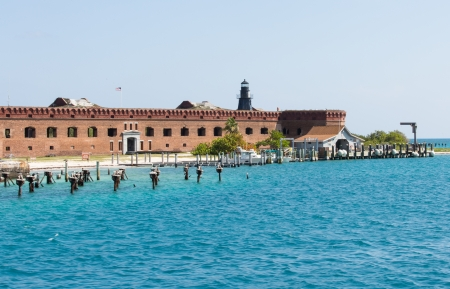 fort jefferson: Garden Key in the Dry Tortugas is the site of the historic Fort Jefferson.