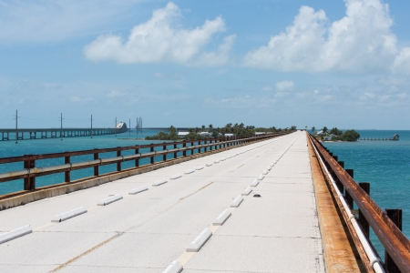 key west: This bridge was built by Henry Flagler as part of the Overseas Railroad to Key West  In the 1935 Labor Day Hurricane the railroad suffered much damage  This bridge was taken over by the state of Florida and converted to part of the Overseas Highway  It ha